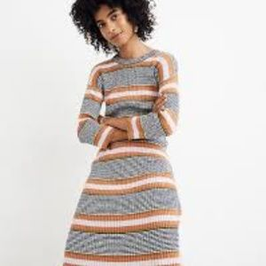Madewell striped sweater dress